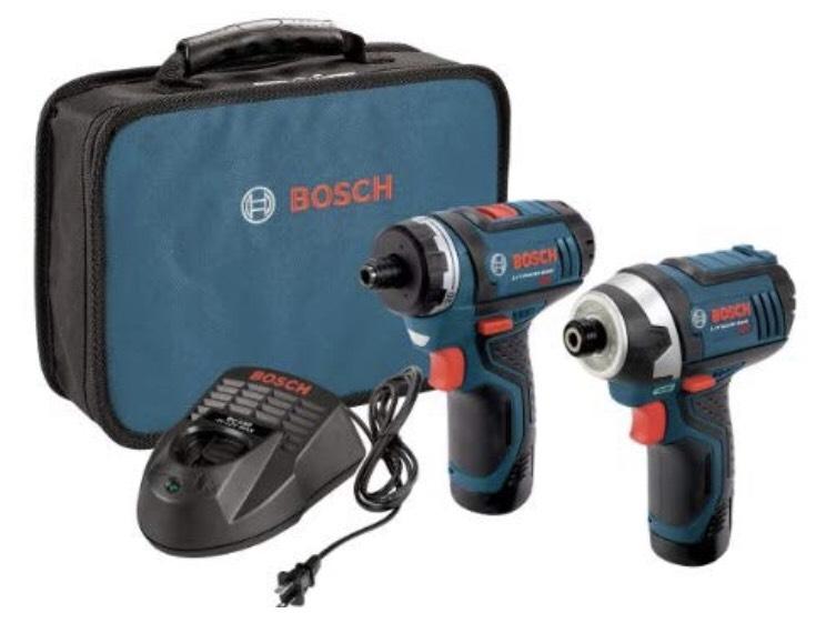 Ensemble Visseuse de poche + Visseuse à choc Bosch CLPK27-120 (Chargeur, housse et batteries inclus) - Frais de livraison et taxes inclus