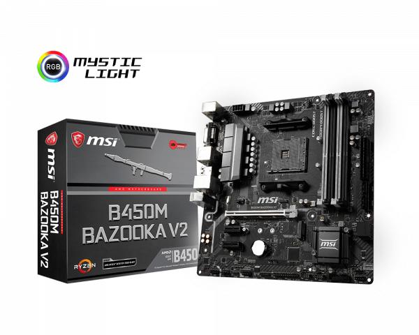 Carte Mère MSI Bazooka V2 Chipset B450M - Socket AMD AM4