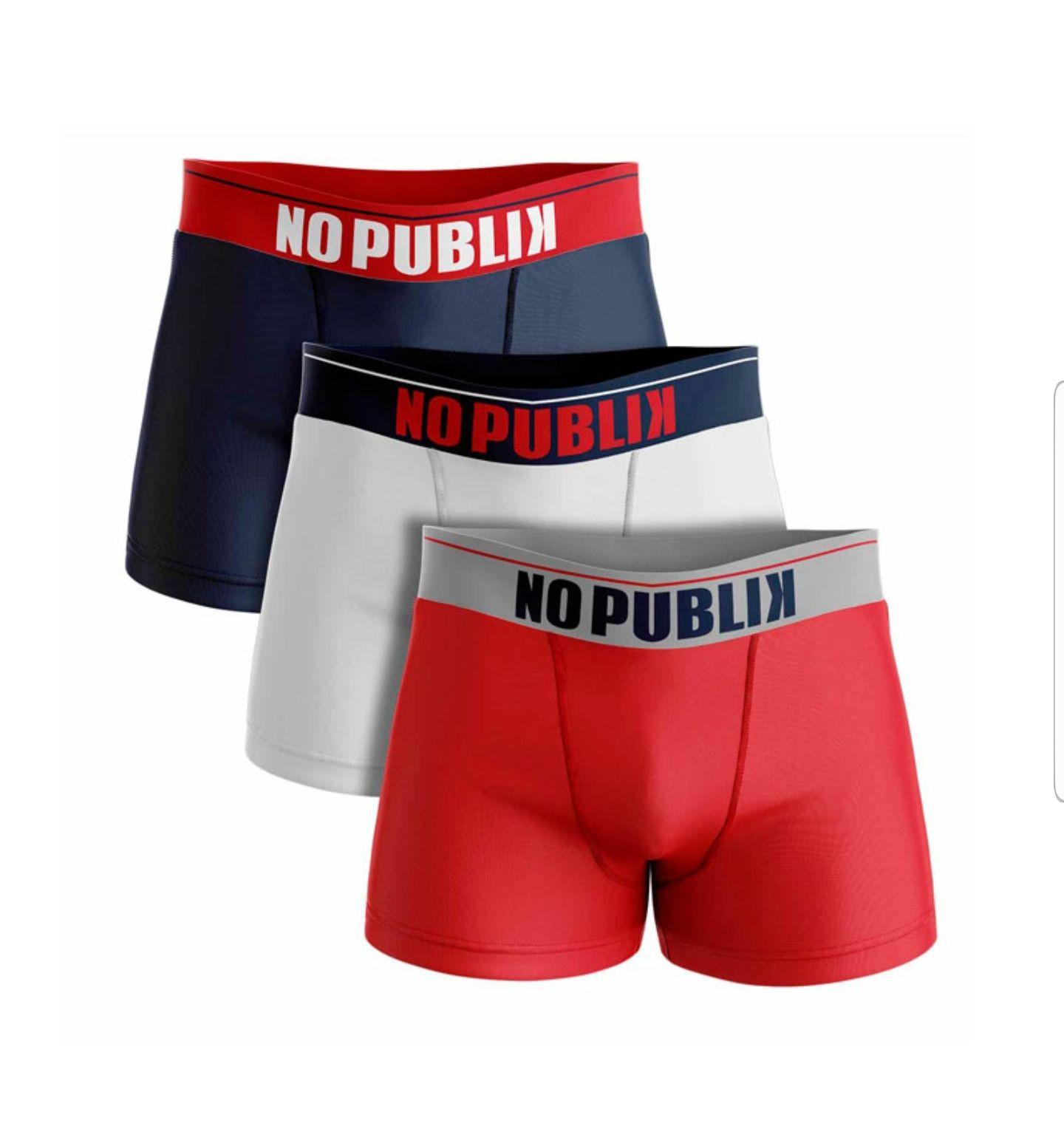Lot 3 Boxers NPK No Publik pour Homme