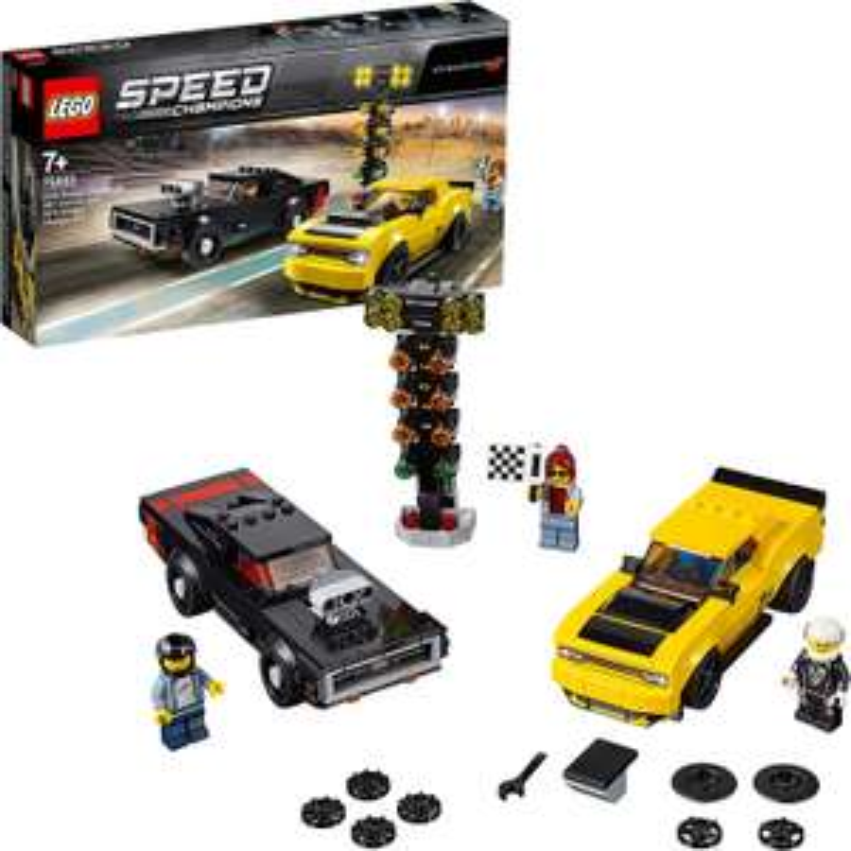 Jeu de construction Lego Speed Champions - Dodge Challenger SRT Demon 2018 et Dodge Charger R/T 1970 (75893)