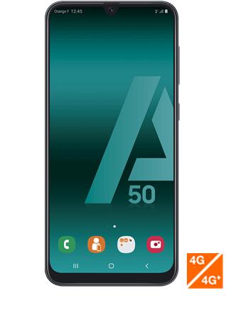 """Smartphone 6.4"""" Samsung Galaxy A50 - Full HD+, Exynos 9610, 4 Go de RAM, 128 Go, Noir"""
