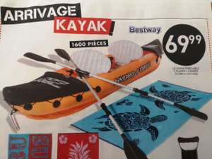 Kayak gonflable 2 places + 2 rames Bestway