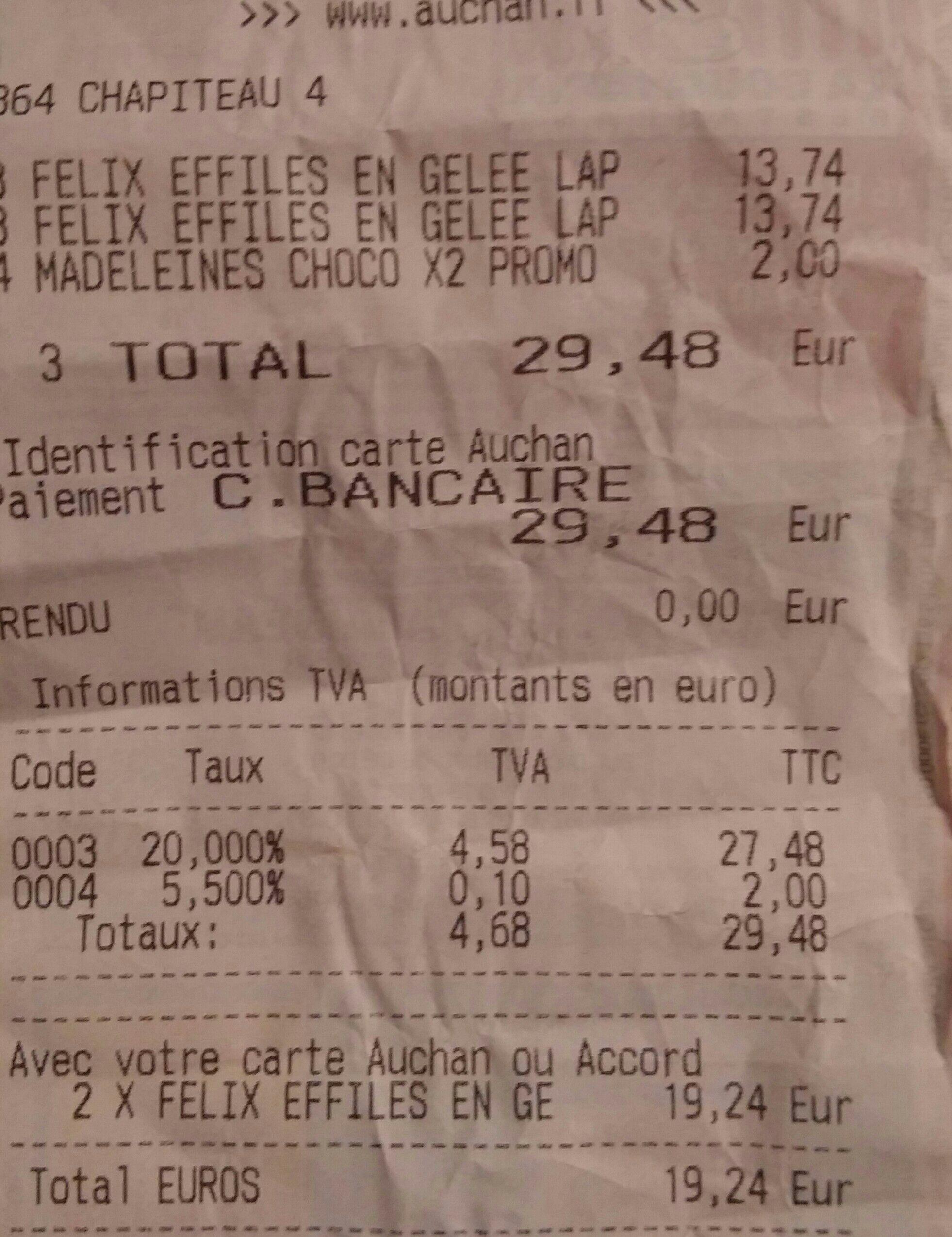 Paquets de 48 Sachets Felix tendres effilés pour chat (avec 9.62 € sur la carte Waaoh)