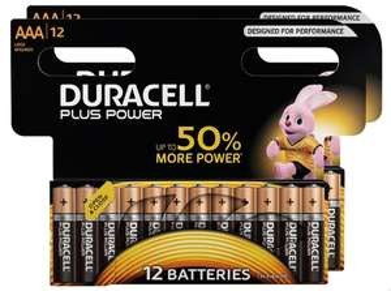Lot de 24 piles AAA ou AA Duracell Plus Power (via 8.95€ sur la carte de fidélité)