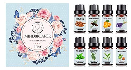 Ensemble d'huiles essentielles d'aromathérapie bio - 8x10ml (Vendeur tiers)