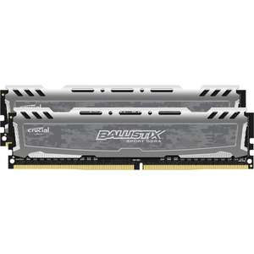 Kit mémoire RAM Ballistix Sport LT (BLS2K8G4D30AESBK) - 16 Go (2 x 8 Go), DDR4, 3000 MHz, CAS 15