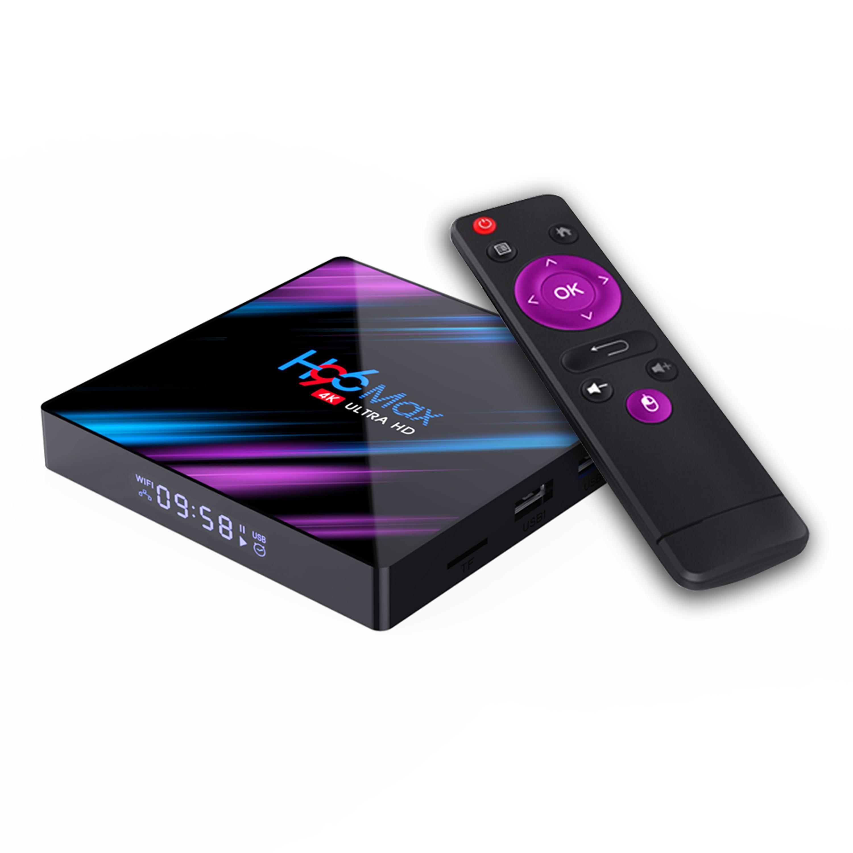 Box TV Android 4K H96 Max - Cortex-A53 RK3318, 4 Go de RAM, 64 Go, Bluetooth / Wi-Fi, Android 9.0, avec télécommande