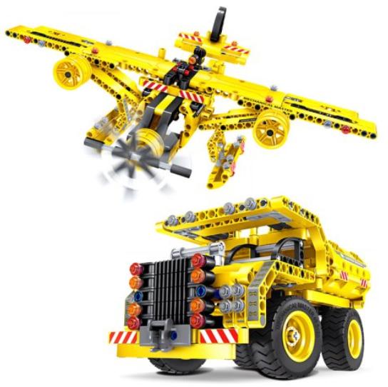 Jeu de Construction Transformation 2-en-1 Avion / Camion