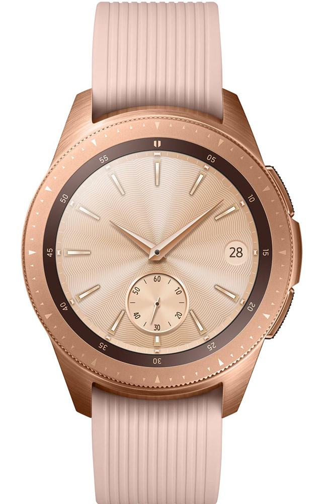 """Montre connectée Samsung Galaxy Watch (R810) - 42 mm, couleur """"or"""" Rose, avec Protecteur d'écran en verre trempé"""
