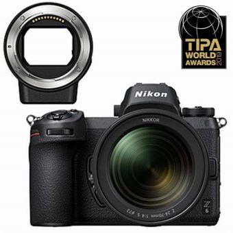 Pack appareil photo compact à objectif interchangeable Nikon Z6 (24.5 Mpix, CMOS) + objectif 24-70 mm f/ 4 S + bague FTZ - Foto-Erhardt.de