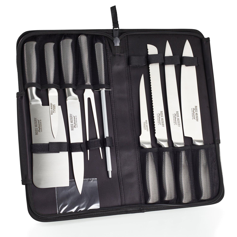 Lot de 9 couteaux  avec étui de transport Ross Henery (Vendeur tiers)