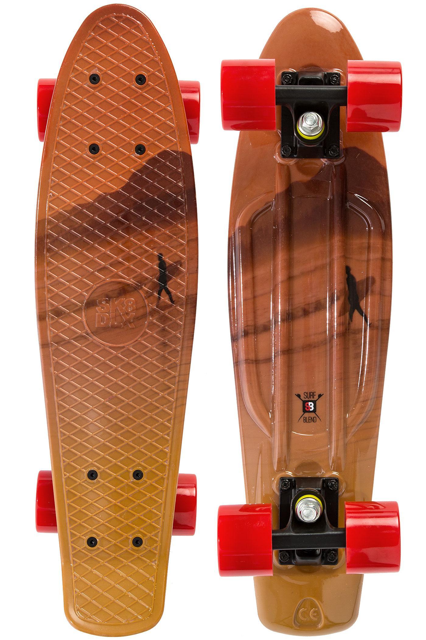 Skate SK8DLX x Surbflend Vinyl Cruiser - Jaune/Orange