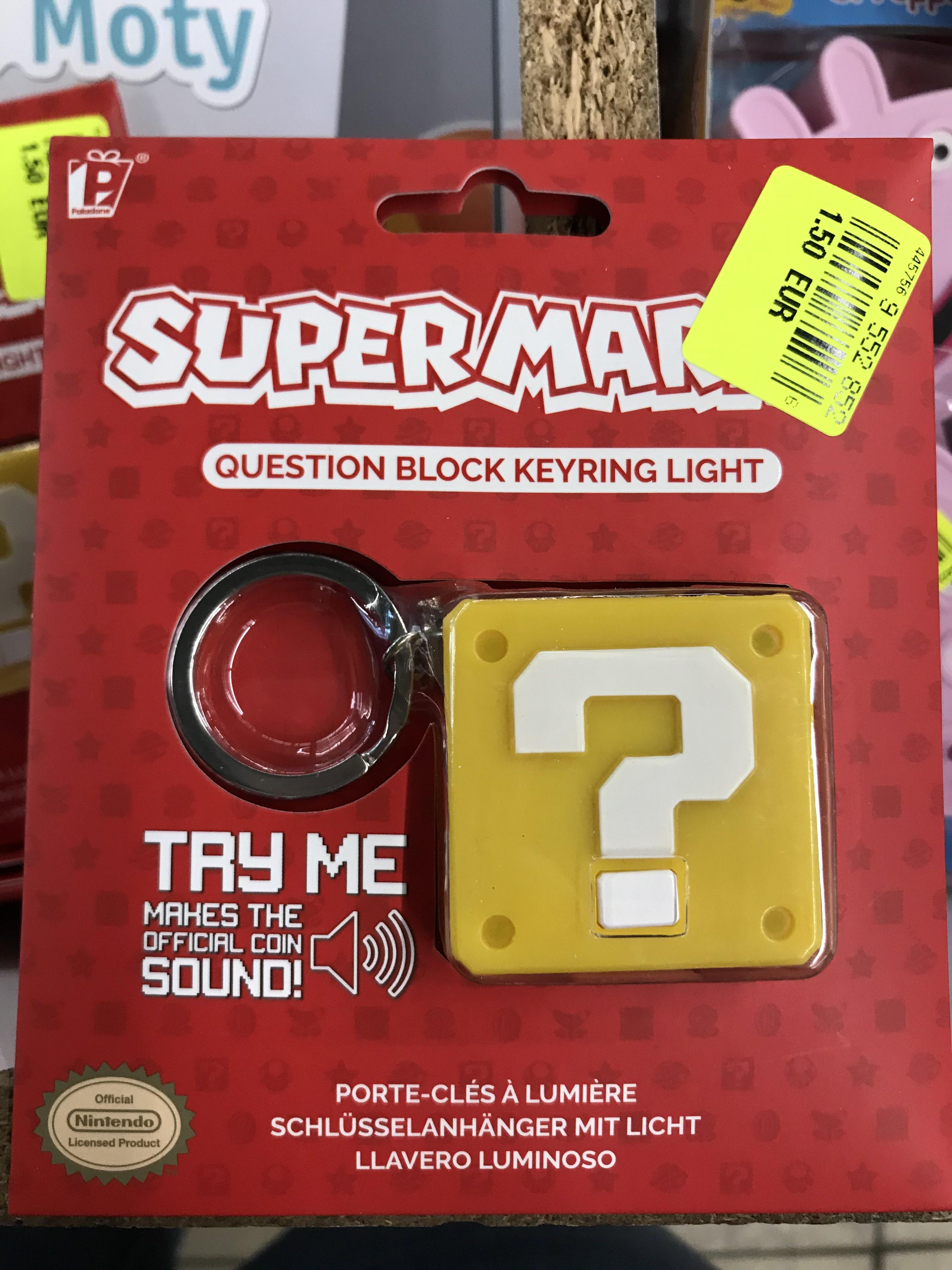 Porte-clés Super Mario Question Block Keyring Light - Angers Saint-Serge (49)