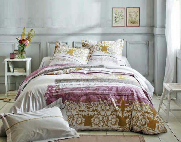 Jusqu'à 70% de réduction sur le linge de maison - Ex : Drap house motif Floral - 90x190cm