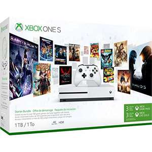 Pack Console Xbox One S - 1To + Abonnement Xbox Game Pass 3 Mois + Abonnement Xbox Live Gold 3 Mois