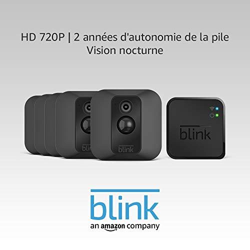 Système de sécurité à domicile avec détection de mouvement Blink XT - 5 caméras, Noir (vendeur tiers)