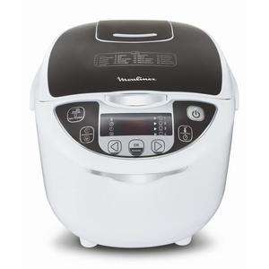 Multicuiseur électrique 15 en 1 Moulinex MK708E10 - 750W, Blanc/Gris