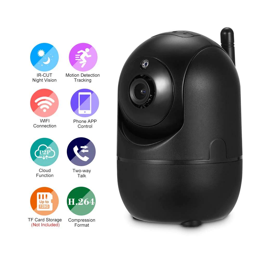 Caméra de surveillance sur IP Owsoo - 1080p, détection des mouvements, vision nocturne, blanc ou noir