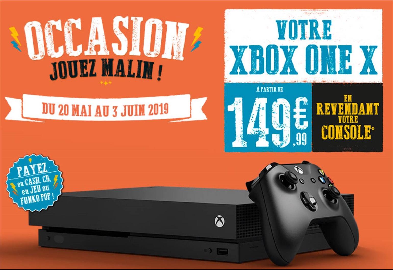 Console Microsoft Xbox One X (1 To) à partir de 149.99€ - pour la reprise d'une ancienne console