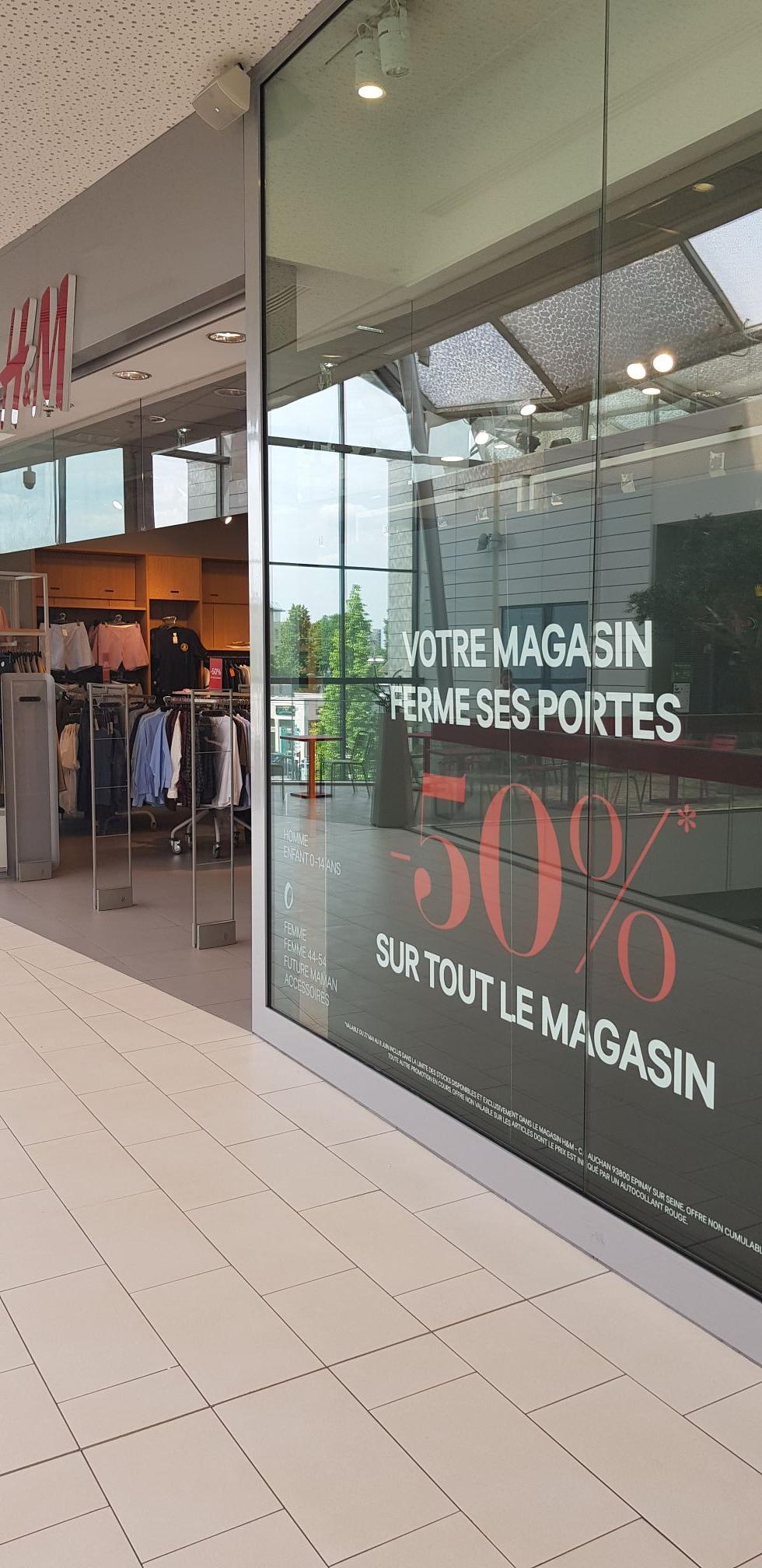 50% de réduction sur tout le magasin (liquidation) - Épinay-sur-Seine (93)