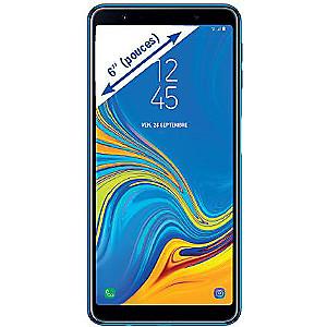 "Smartphone 6"" Samsung Galaxy A7 (2018) - full HD+, Exynos 7885, 4 Go de RAM, 64 Go, bleu"
