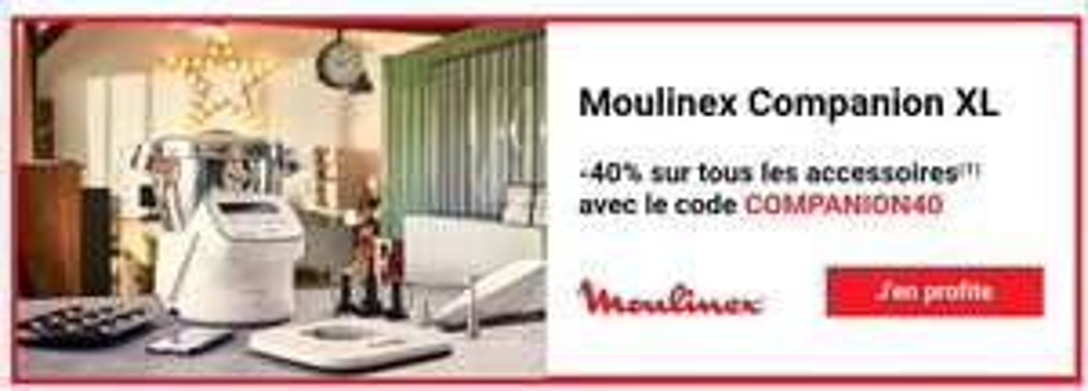 40% de réduction sur une sélection d'accessoires Moulinex Companion