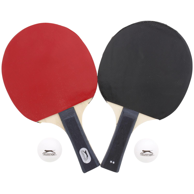 Set de Tennis de Table Slazenger - 2 Raquettes + 2 Balles + Sacoche