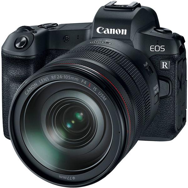 Appareil Photo Hybride Canon EOS R + Objectif RF 24-105mm f/4L IS USM + Bague d'adaptation EF-EOSR (Via ODR 300€)