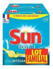 Lot de 2 boites de Tablettes lave-vaisselle Sun Tout en 1 (avec 15,92 € en bon d'achat)