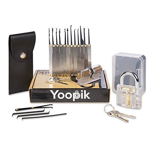 Kit de crochetage Yoopik - 15 Pièces avec 2 Serrures d'entraînement (Vendeur tiers)