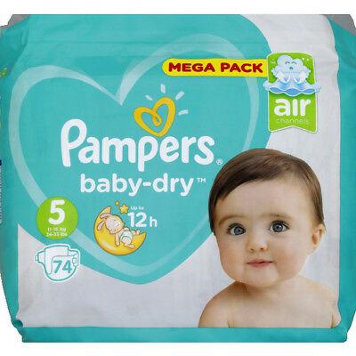 Paquet de couches Pampers MegaPack Baby-Dry ou Dry Pants - Tailles au choix (avec 20,36 € en bon d'achat et BDR)