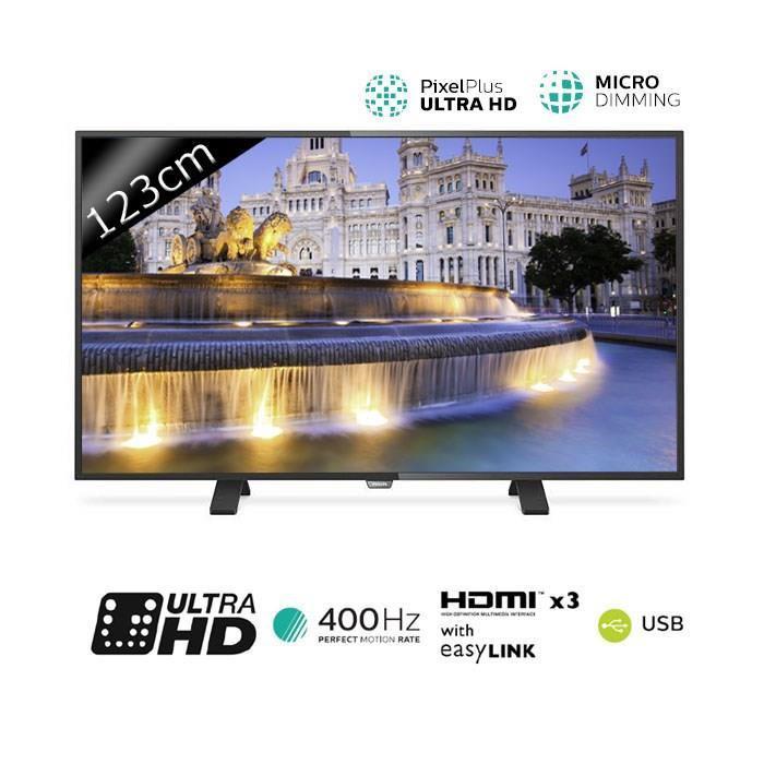 """TV 49"""" Philips 49PUH4900 LED UHD 4K 123cm (+ 2 bons d'achat de 50€)"""