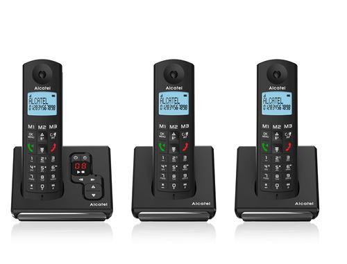 Téléphone fixe sans fil Alcatel F690 Voice Trio - Noir (via ODR de 20€)