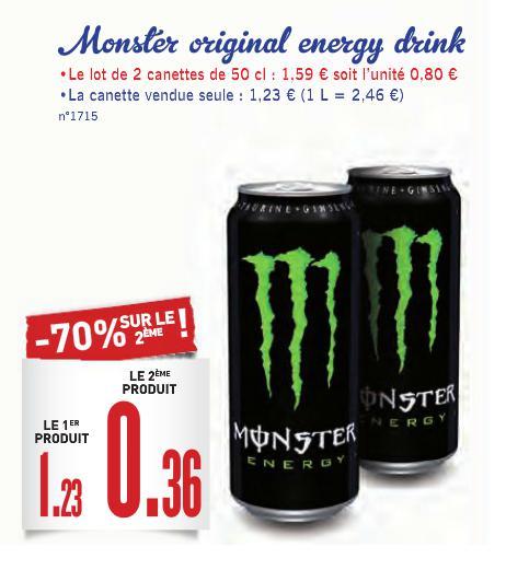 8 canettes de Boisson Monster Energy
