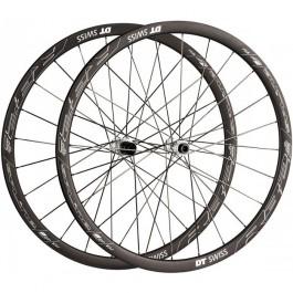 Paire de roues de vélo DT Swiss R32 Spline DB CL Clincher - 700C, noir