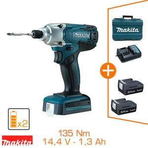 Visseuse à choc Makita TD126DWE 14,4V - 135 Nm - 2 bat Li-Ion 1,3 Ah + coffret
