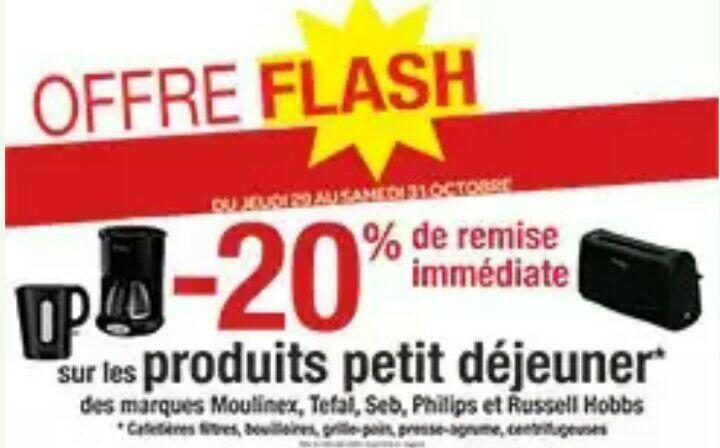 """20% de réduction sur les produits """"petit déjeuner"""" (électroménager)"""