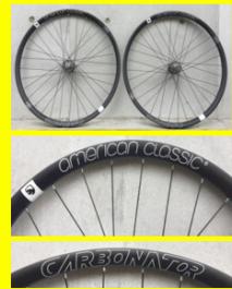 """Paire de roues American Classic Carbonator 27.5"""" Disc (15x100mm / 12x142mm) Black"""