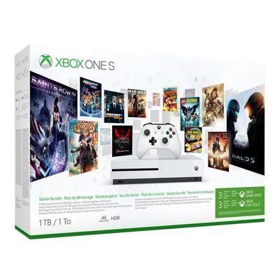 Pack console Microsoft Xbox One S (1 To) + abonnement de 3 mois au Xbox Game Pass (frais de port inclus, vendeur tiers)