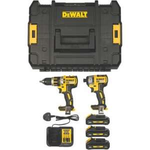 Pack brushless Perceuse Percussion + Visseuse à Choc Dewalt DCK2510L3T 18V - 3 batteries 3AH LI-ION XR Brushless + Chargeur + coffret Tstack