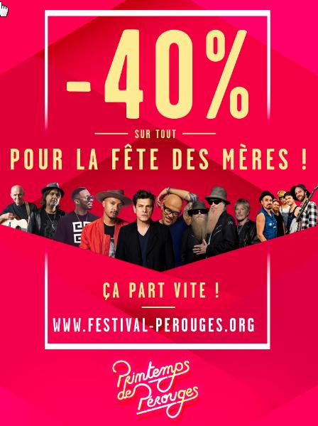 40%  de réduction sur une sélection de places de concert - Festival Printemps de Pérouges