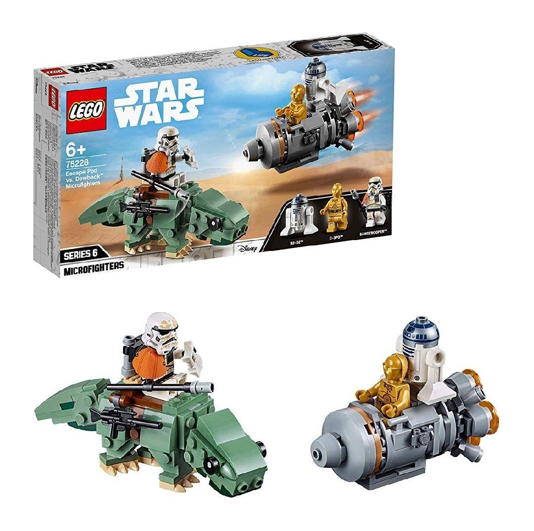 Jeu de construction Lego Star Wars - Capsule de sauvetage contre Microfighter Dewback (75228)