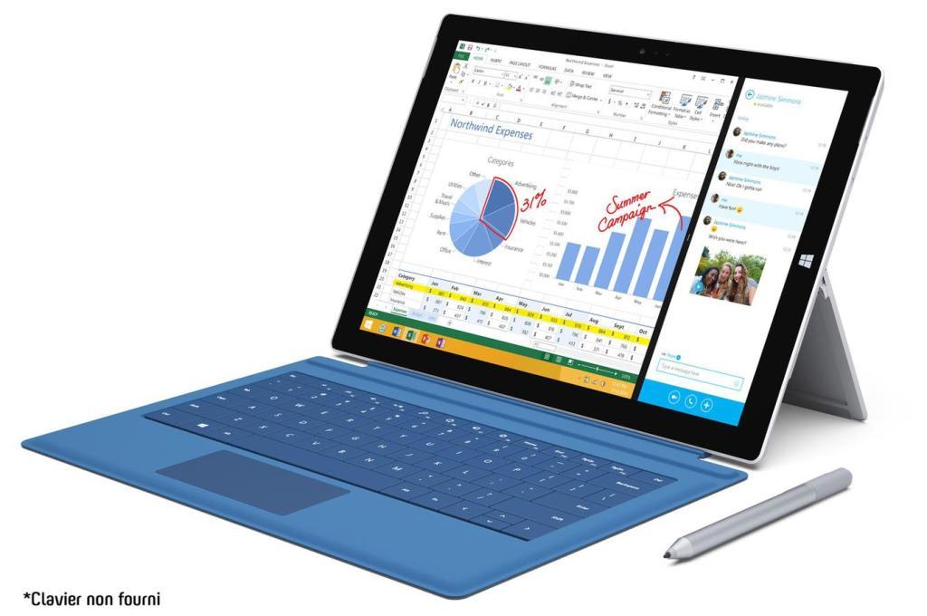 """Tablette PC Microsoft Surface Pro 3 12"""" 256 Go i5 8Go (Sans clavier)"""