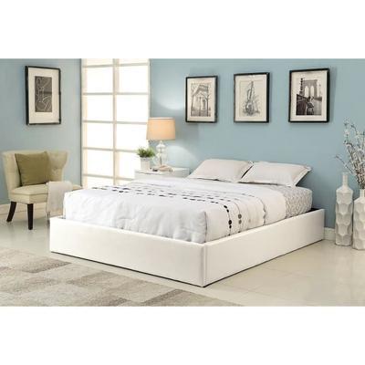 Lit coffre Majesty - 160x200 cm, avec sommier, en simili-cuir blanc (+ éventuelle Offre Spéciale)
