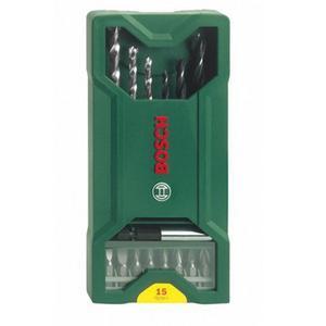 Set d'embouts de vissage / forets de perçage Bosch Mini X-Line - 15 pièces