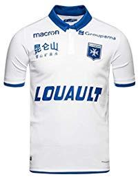 Maillot de football Macron AJ Auxerre 18/19 domicile - du S au XXL, sauf L