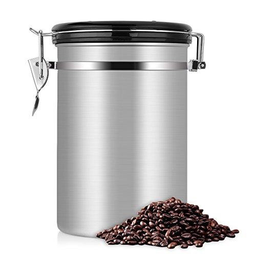Boîte de conservation pour café hermétique - Eecoo Coffee Vault - 1.8 L, argent (vendeur tiers)