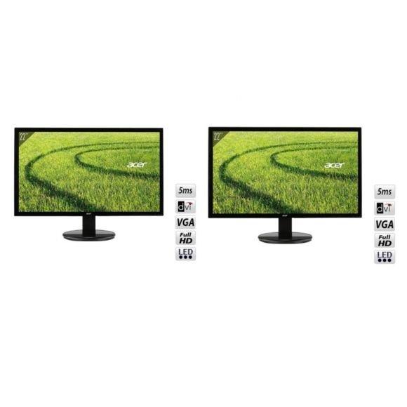 "Lot de 2 écrans PC 22"" Acer K222HQLbd - FullHD"