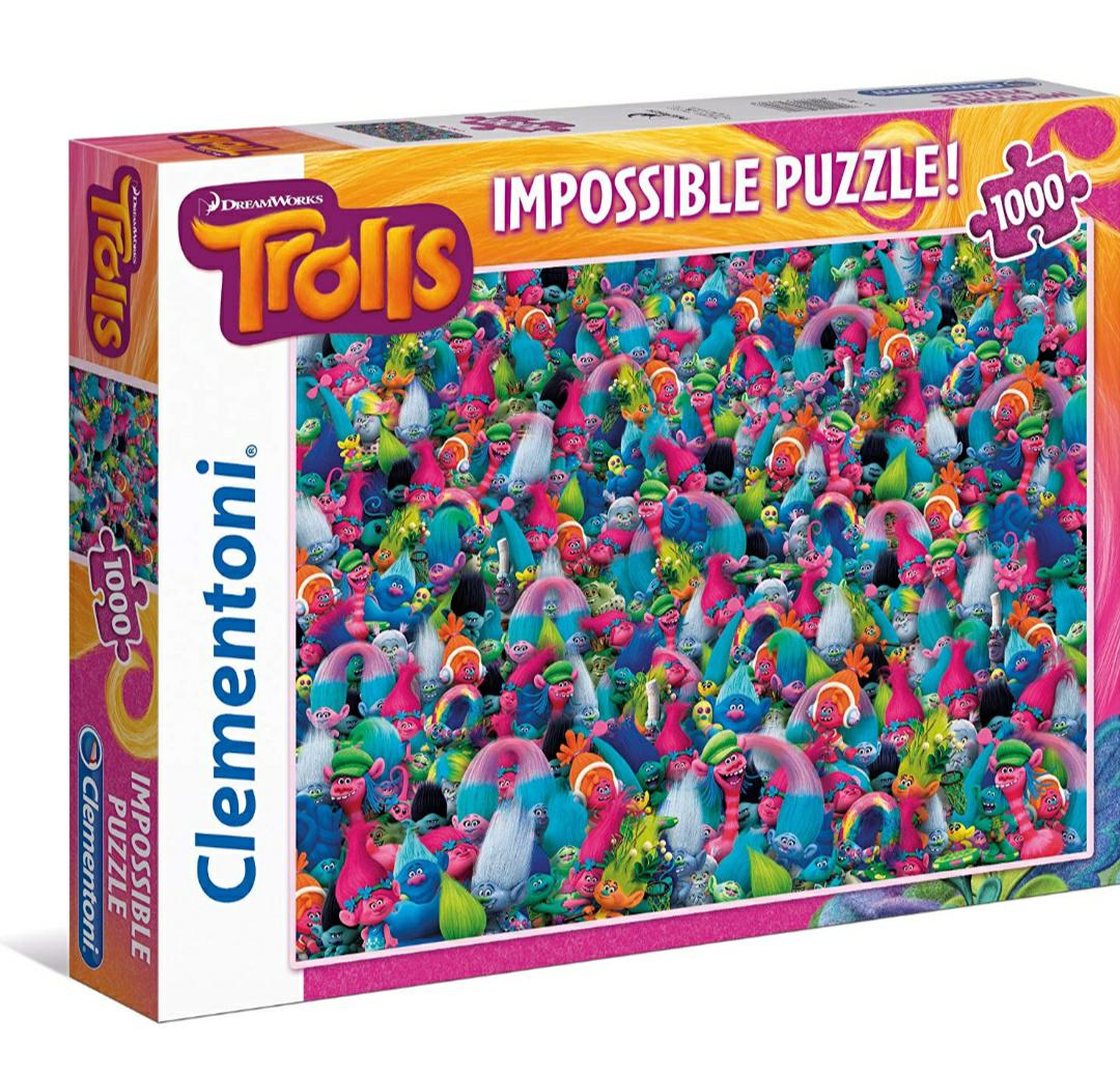 Puzzle Impossible Les Trolls Clementoni - 1000 Pièces
