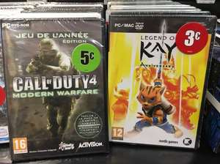 Call of Duty 4: Modern Warfare à 5€ ou Legend of Kay Anniversary à 3€ sur PC - Ivry-sur-Seine (94)